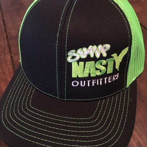 Swamp Nasty Lime Green Hat